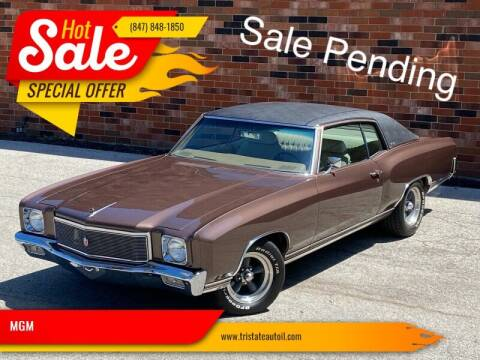 1971 Chevrolet Monte Carlo for sale at MGM CLASSIC CARS in Addison, IL