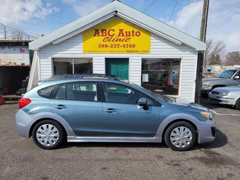 2012 Subaru Impreza for sale at ABC AUTO CLINIC - Chubbuck in Chubbuck ID