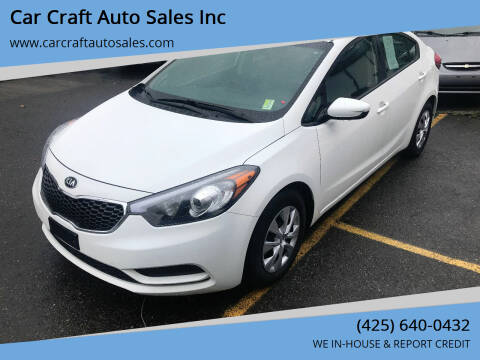 2016 Kia Forte for sale at Car Craft Auto Sales Inc in Lynnwood WA