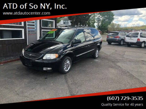 2003 Chrysler Town and Country for sale at ATD of So NY, Inc. in Johnson City NY
