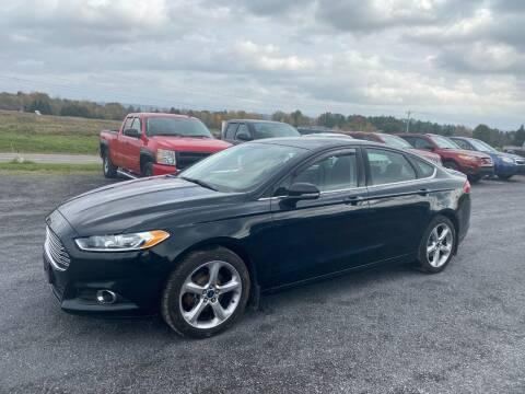 2014 Ford Fusion for sale at Riverside Motors in Glenfield NY