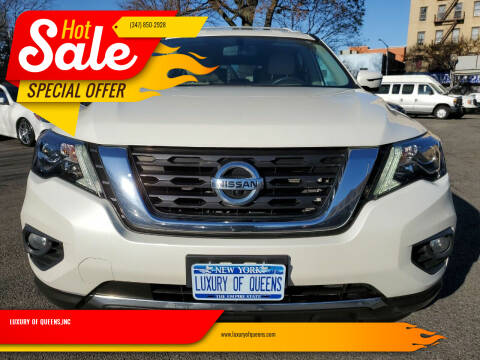 2017 Nissan Pathfinder for sale at LUXURY OF QUEENS,INC in Long Island City NY