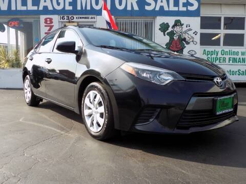 2015 Toyota Corolla for sale at Village Motor Sales in Buffalo NY