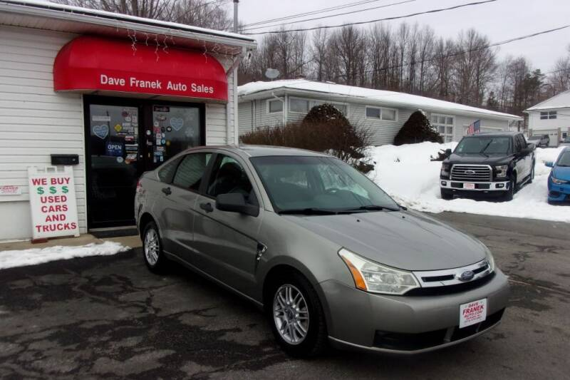 2008 Ford Focus for sale at Dave Franek Automotive in Wantage NJ