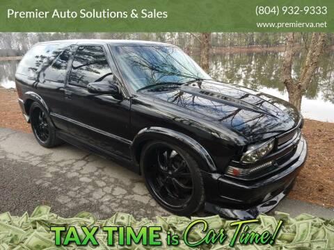 2002 Chevrolet Blazer for sale at Premier Auto Solutions & Sales in Quinton VA