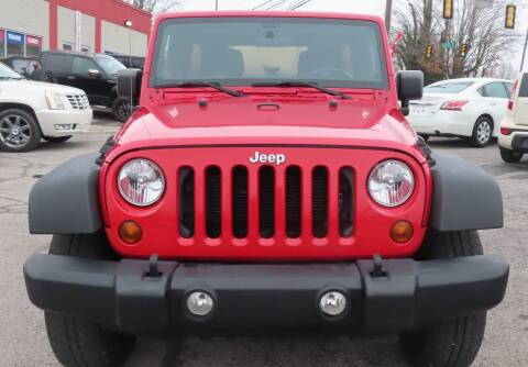 2012 Jeep Wrangler Unlimited for sale at RIVERSIDE CUSTOM AUTOMOTIVE in Mc Minnville TN