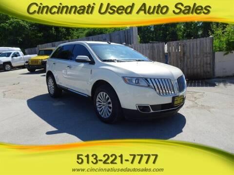 2013 Lincoln MKX for sale at Cincinnati Used Auto Sales in Cincinnati OH