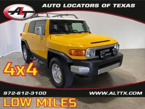 2010 Toyota FJ Cruiser for sale at AUTO LOCATORS OF TEXAS in Plano TX