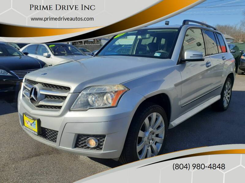2010 Mercedes-Benz GLK for sale at Prime Drive Inc in Richmond VA