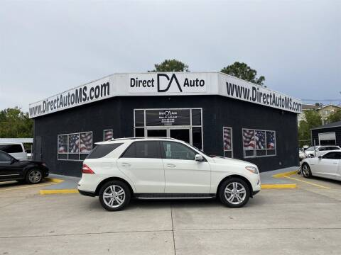 2013 Mercedes-Benz M-Class for sale at Direct Auto in D'Iberville MS