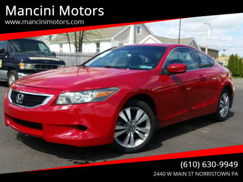 2008 Honda Accord for sale at Mancini Motors in Norristown PA