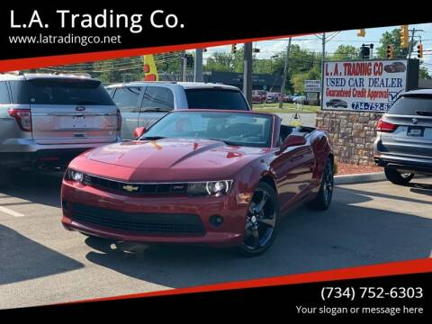 2015 Chevrolet Camaro for sale at L.A. Trading Co. in Woodhaven MI