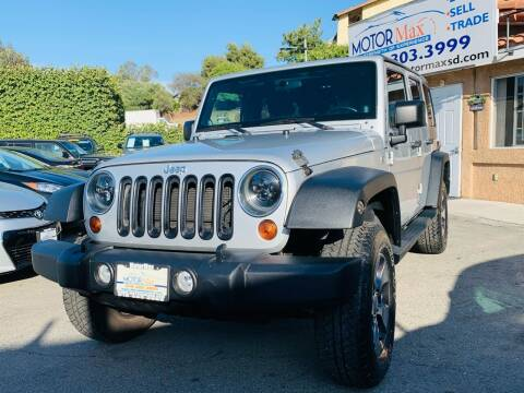 2012 Jeep Wrangler Unlimited for sale at MotorMax in Lemon Grove CA