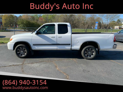 2005 Toyota Tundra for sale at Buddy's Auto Inc in Pendleton, SC