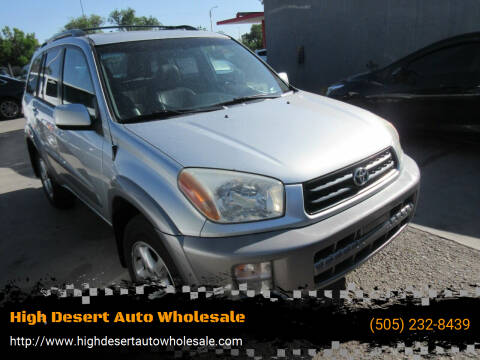 2001 Toyota RAV4 for sale at High Desert Auto Wholesale in Albuquerque NM