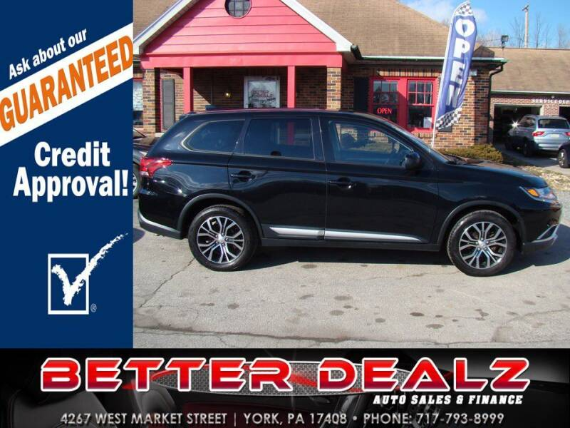 2018 Mitsubishi Outlander for sale at Better Dealz Auto Sales & Finance in York PA
