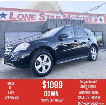 2011 Mercedes-Benz M-Class for sale at LONE STAR MOTORS II in Fort Worth TX