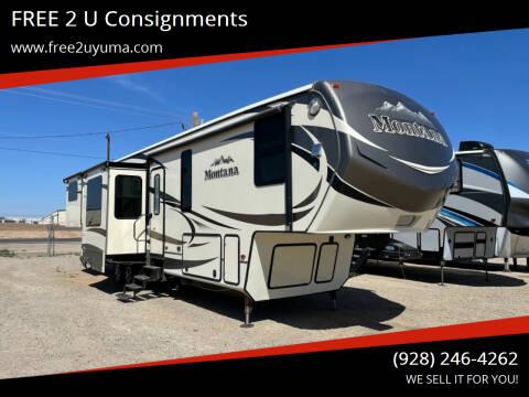 2015 Keystone Montana for sale at FREE 2 U Consignments in Yuma AZ