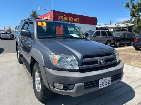 2003 Toyota 4Runner for sale at 3K Auto in Escondido CA