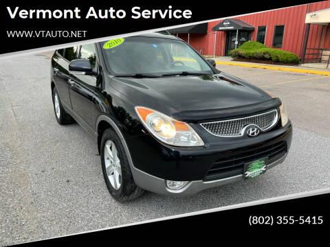2010 Hyundai Veracruz for sale at Vermont Auto Service in South Burlington VT