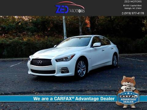 2015 Infiniti Q50 for sale at Zed Motors in Raleigh NC