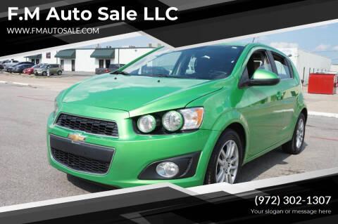 2015 Chevrolet Sonic for sale at F.M Auto Sale LLC in Dallas TX