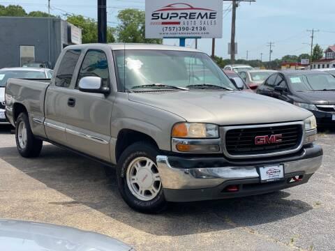 2000 GMC Sierra 1500 for sale at Supreme Auto Sales in Chesapeake VA