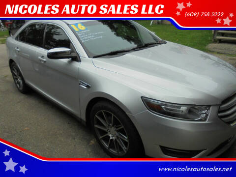 2016 Ford Taurus for sale at NICOLES AUTO SALES LLC in Cream Ridge NJ