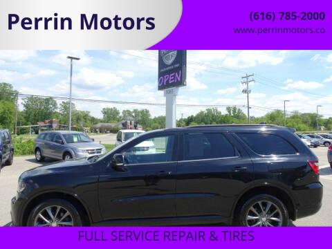 2017 Dodge Durango for sale at Perrin Motors in Comstock Park MI