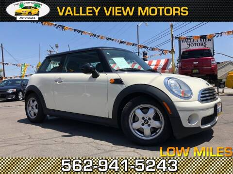 2009 MINI Cooper for sale at Valley View Motors in Whittier CA