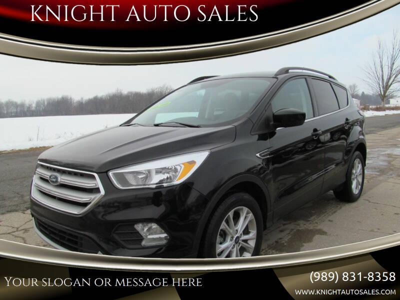 2018 Ford Escape for sale at KNIGHT AUTO SALES in Stanton MI
