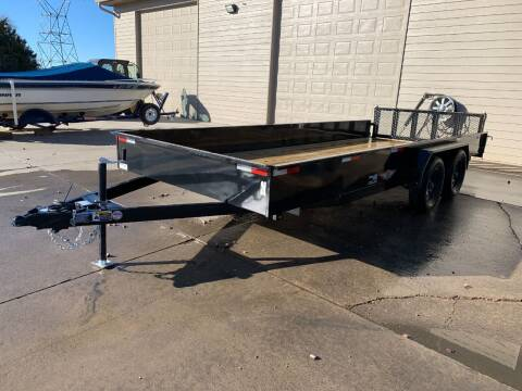 2021 H&H Solid Side Steel 8.5x18 #1582 for sale at Prairie Wind Trailers, LLC in Harrisburg SD