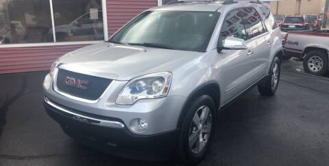 2012 GMC Acadia for sale at N & J Auto Sales in Warsaw IN