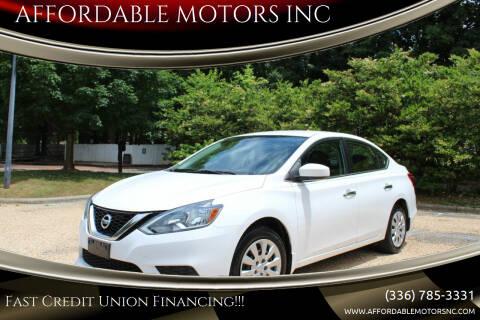 2016 Nissan Sentra for sale at AFFORDABLE MOTORS INC in Winston Salem NC