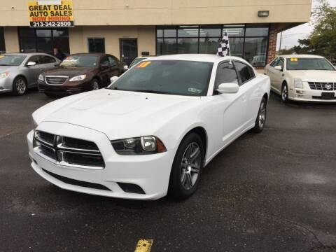 2013 Dodge Charger for sale at GREAT DEAL AUTO SALES in Center Line MI