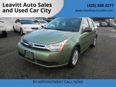 2008 Ford Focus for sale at Leavitt Auto Sales and Used Car City in Everett WA