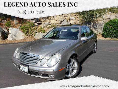 2006 Mercedes-Benz E-Class for sale at Legend Auto Sales Inc in Lemon Grove CA