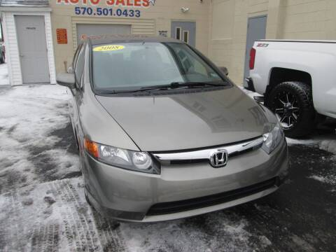 2008 Honda Civic for sale at Small Town Auto Sales in Hazleton PA