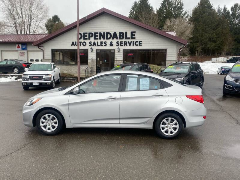 2012 Hyundai Accent for sale at Dependable Auto Sales and Service in Binghamton NY