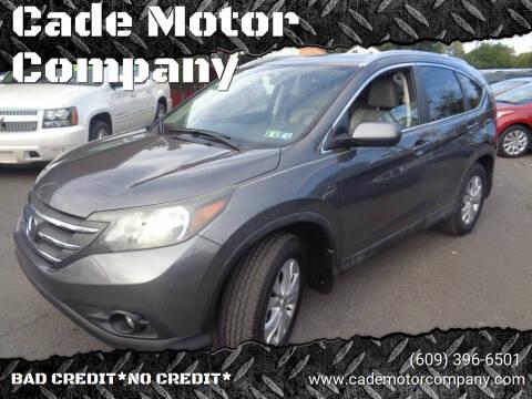 2014 Honda CR-V for sale at Cade Motor Company in Lawrence Township NJ