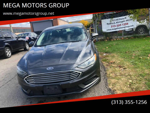 2017 Ford Fusion for sale at MEGA MOTORS GROUP in Redford MI