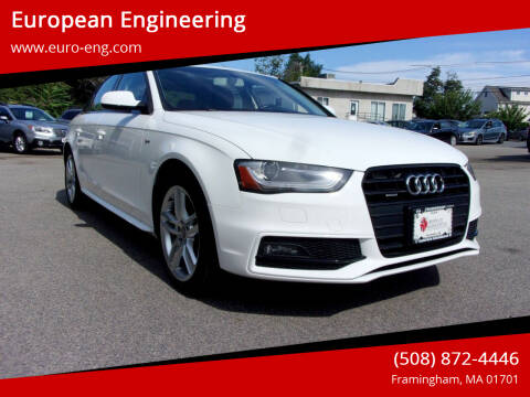 2016 Audi A4 for sale at European Engineering in Framingham MA