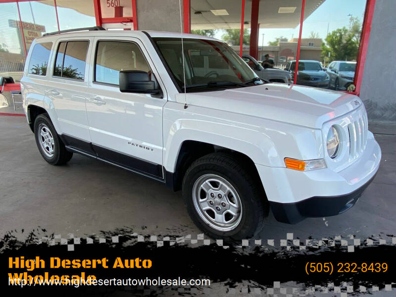 2015 Jeep Patriot for sale at High Desert Auto Wholesale in Albuquerque NM