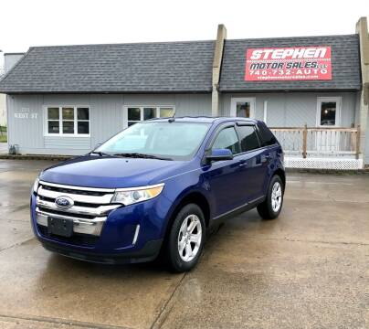 2013 Ford Edge for sale at Stephen Motor Sales LLC in Caldwell OH