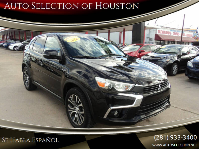 2016 Mitsubishi Outlander Sport for sale at Auto Selection of Houston in Houston TX