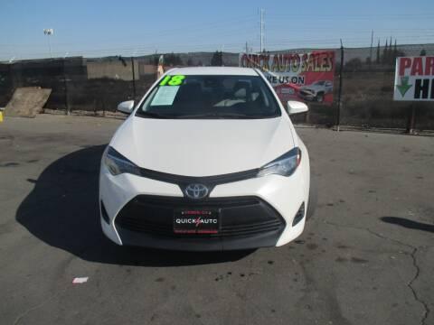 2018 Toyota Corolla for sale at Quick Auto Sales in Modesto CA
