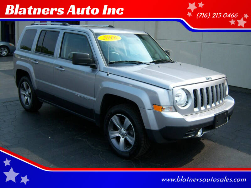 2016 Jeep Patriot for sale at Blatners Auto Inc in North Tonawanda NY