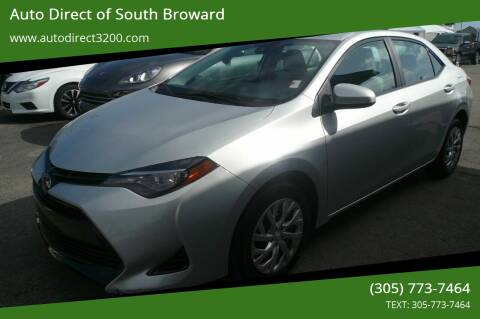 2018 Toyota Corolla for sale at Auto Direct of South Broward in Miramar FL