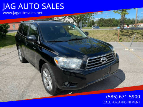 2008 Toyota Highlander for sale at JAG AUTO SALES in Webster NY