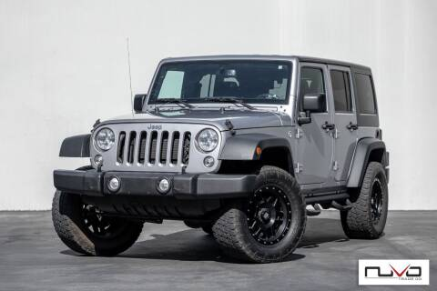 2015 Jeep Wrangler Unlimited for sale at Nuvo Trade in Newport Beach CA